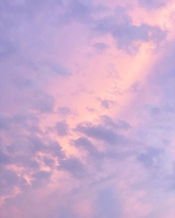 Cotton Candy Skies Summer Sunset Clouds in Michigan