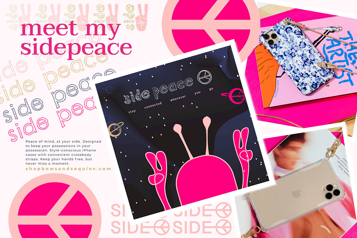 Longtime lifestyle blogger Bows & Sequins launches her own product called the SIDEPEACE.