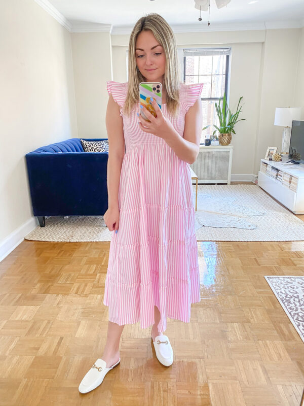 Pink and White Candy Striped Nap Dress Review