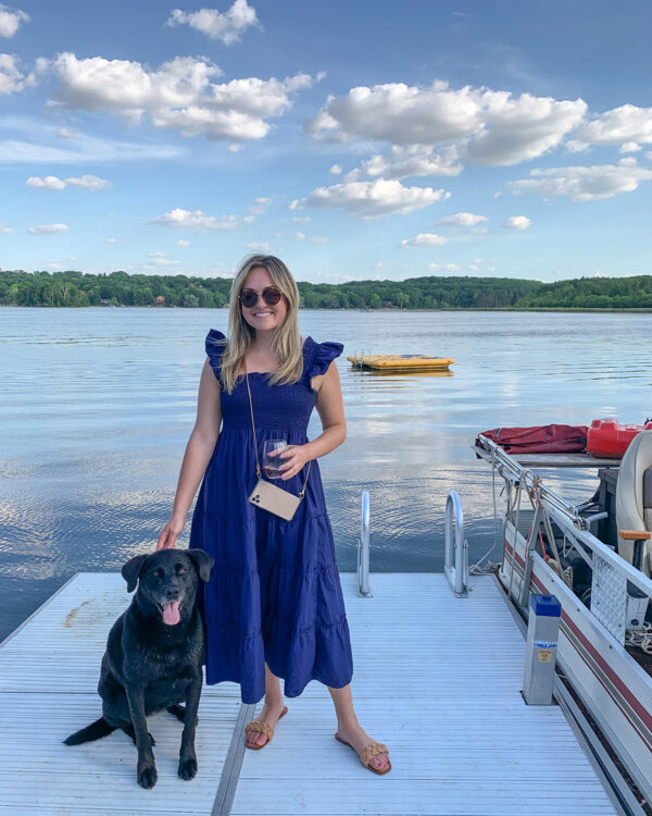Navy Blue Nap Dress at a Lake House in Wisconsin