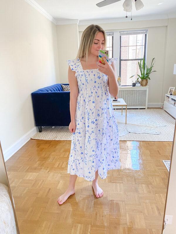 Blue & White Botanical Nap Dress Review